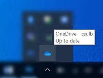 Desktop view showing OneDrive app from the bottom toolbar menu