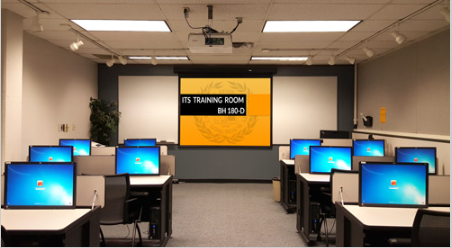 Picture showing the inside of the ITS Training Room