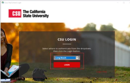 CSU login page