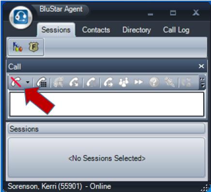 BluStar is offline when red\