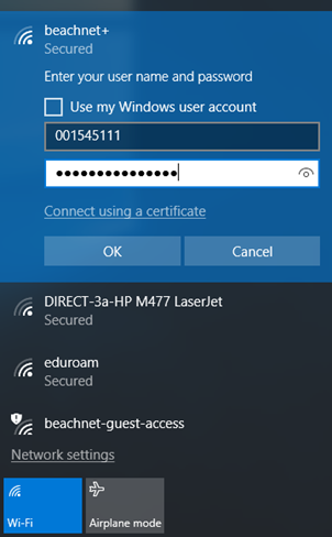 Network login authentication box