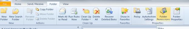 Folder tab view