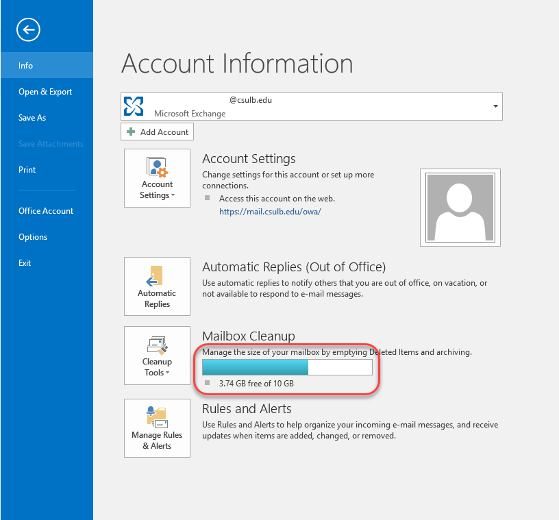 Mailbox Cleanup in Outlook