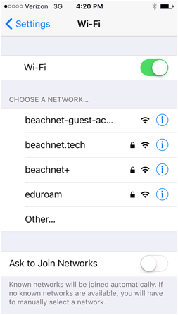 List of Wi-Fi Networks