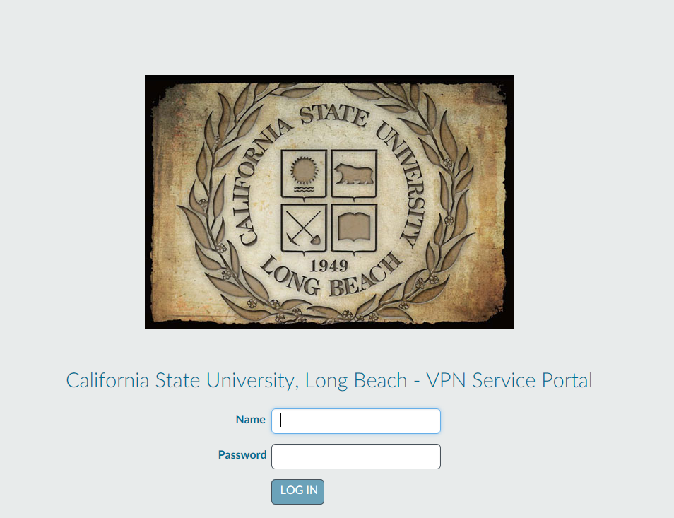 VPN Service Portal Sign in Screen
