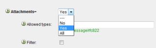 Send settings