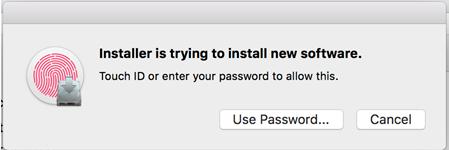 Mac Permission Window