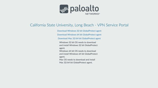 Palo Alto Networks VPN Service Portal