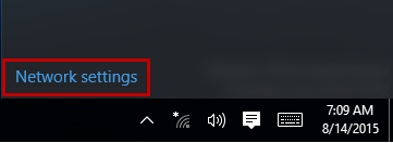 Click network settings