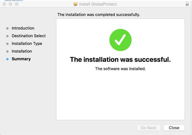 Installation Success