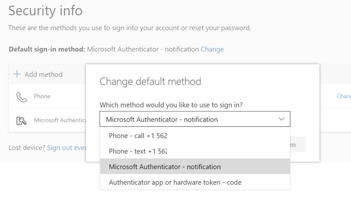 Change default option