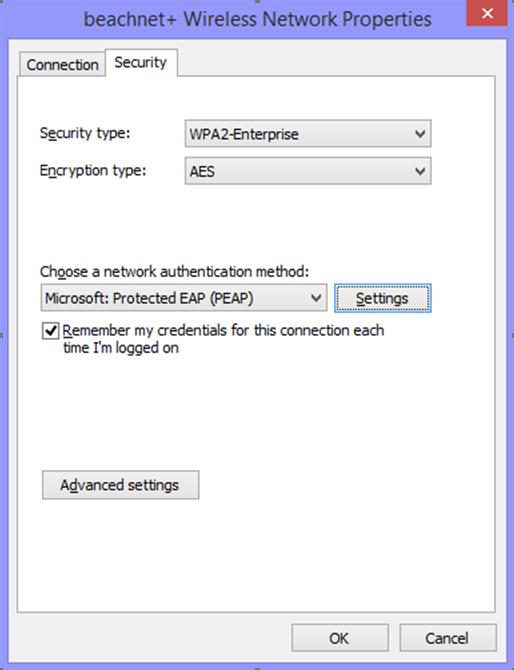 Beachnet+ wireless network properties