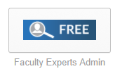 Faculty Experts Admin Chiclet (button) in SSO