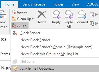junk mail click