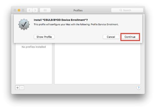 Install Profile tool window