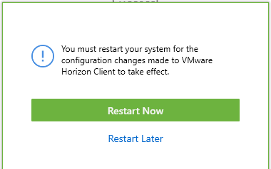 Image 5: Window showing Option to Restart now or later