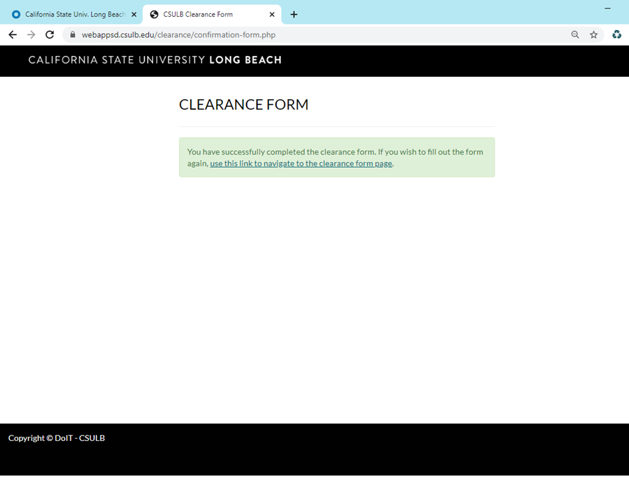 Clearance Page End