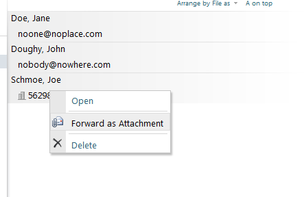 Forward as attachment option