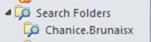 The search folders list