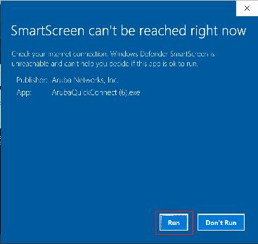 Smart Screen pop up window