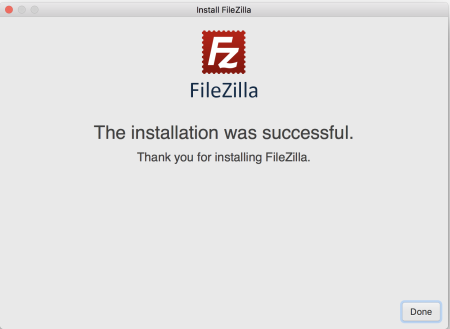 successful installation confirmation screen