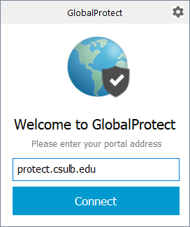 Welcome to Global Protect Screen