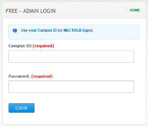 FREE system login page