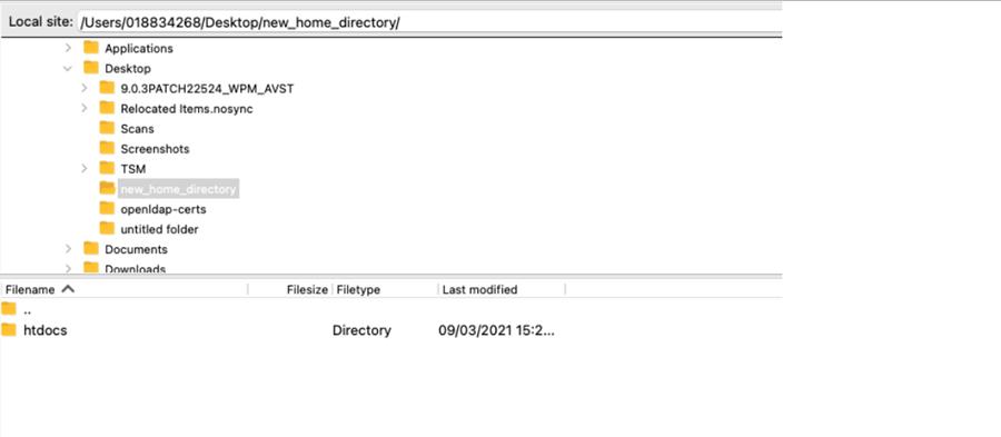 desktop new directory